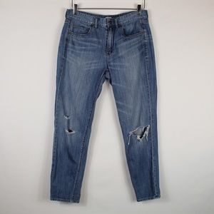 J. Crew | Distressed boyfriend jeans 28
